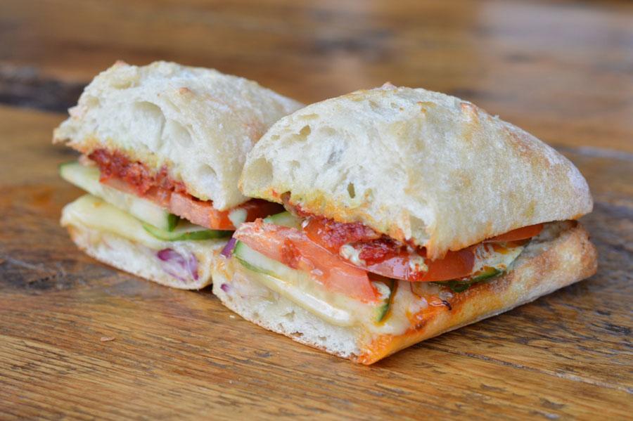 Sicilia Vegetarian Sandwich Cafe Pave Montreal